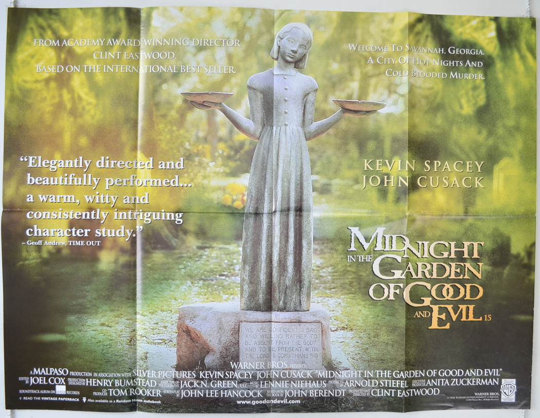 Midnight In The Garden Of Good And Evil Original Cinema Movie Poster From: in the garden of good and evil movie