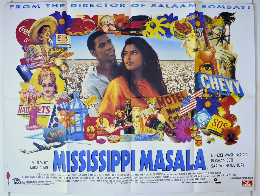 Details about MISSISSIPPI MASALA (1991) Quad Movie Poster - Denzil ...