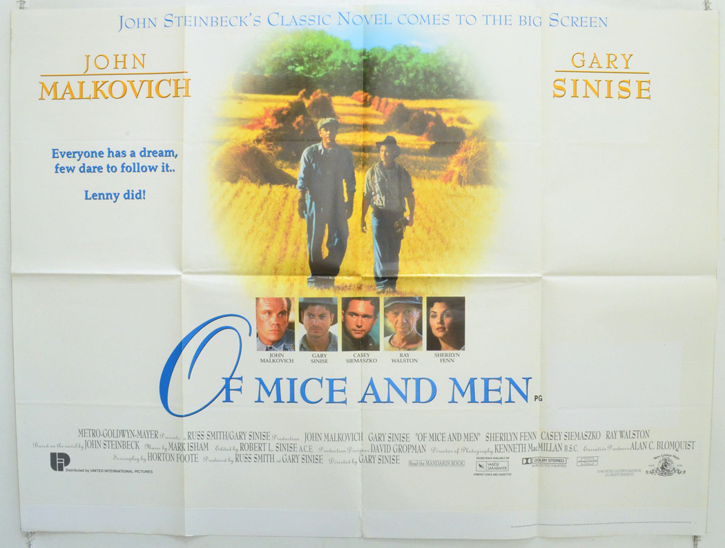 Of Mice And Men - Original Cinema Movie Poster From ...