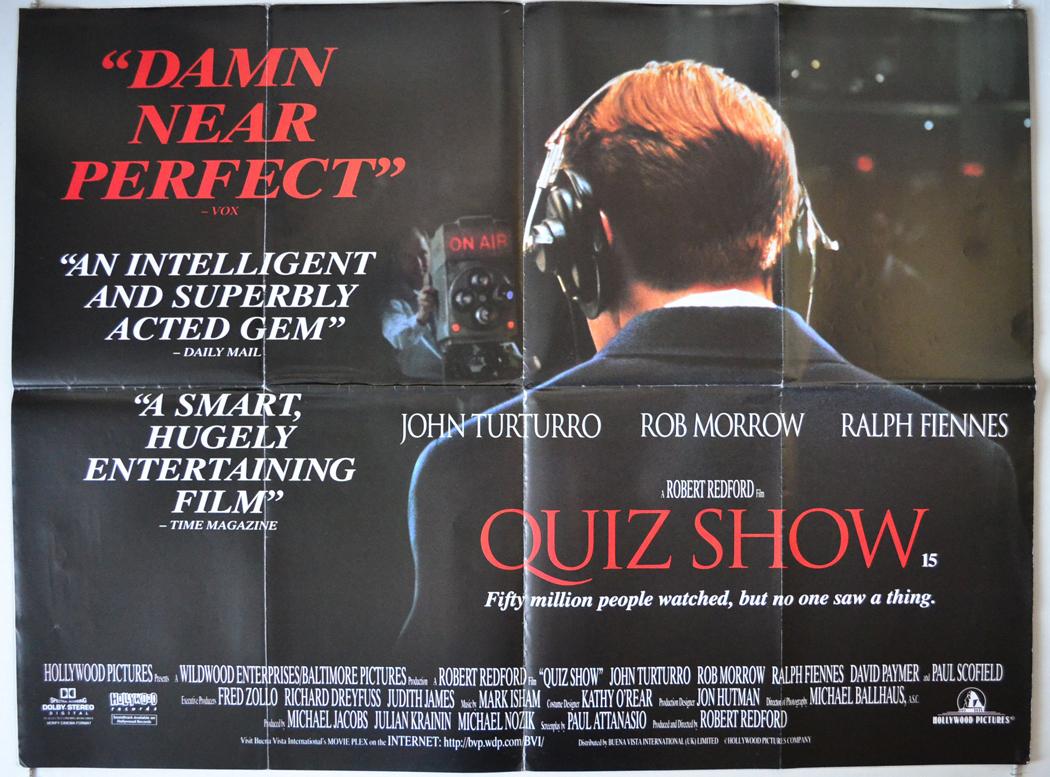 Quiz Show 1994 Original Quad Movie Poster Robert