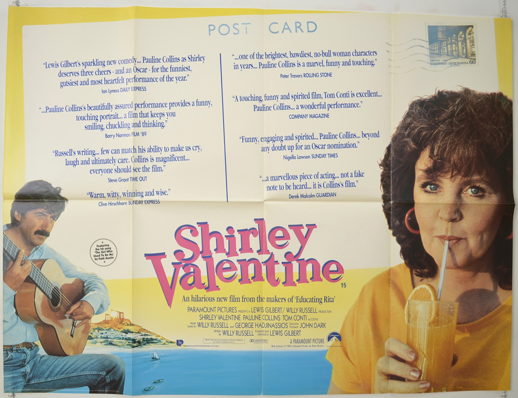 a review of the movie shirley valentine directed by british filmmaker lewis gilbert British director lewis gilbert, director of three classic james bond  'shirley  valentine' and one of my very favourite bond films: 'the spy who.