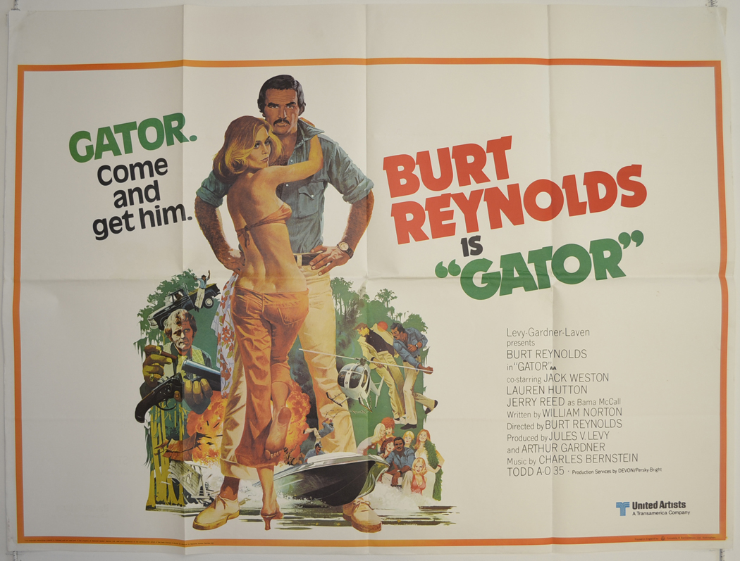 GATOR (1976) Cinema Quad Film Poster - Burt Reynolds ...