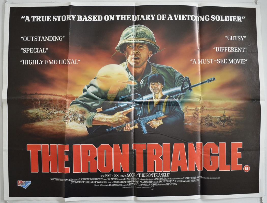 iron triangle the original cinema movie poster from. Black Bedroom Furniture Sets. Home Design Ideas