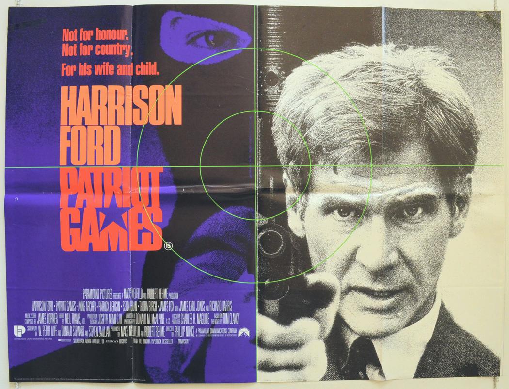 Patriot Games Original Cinema Movie Poster From