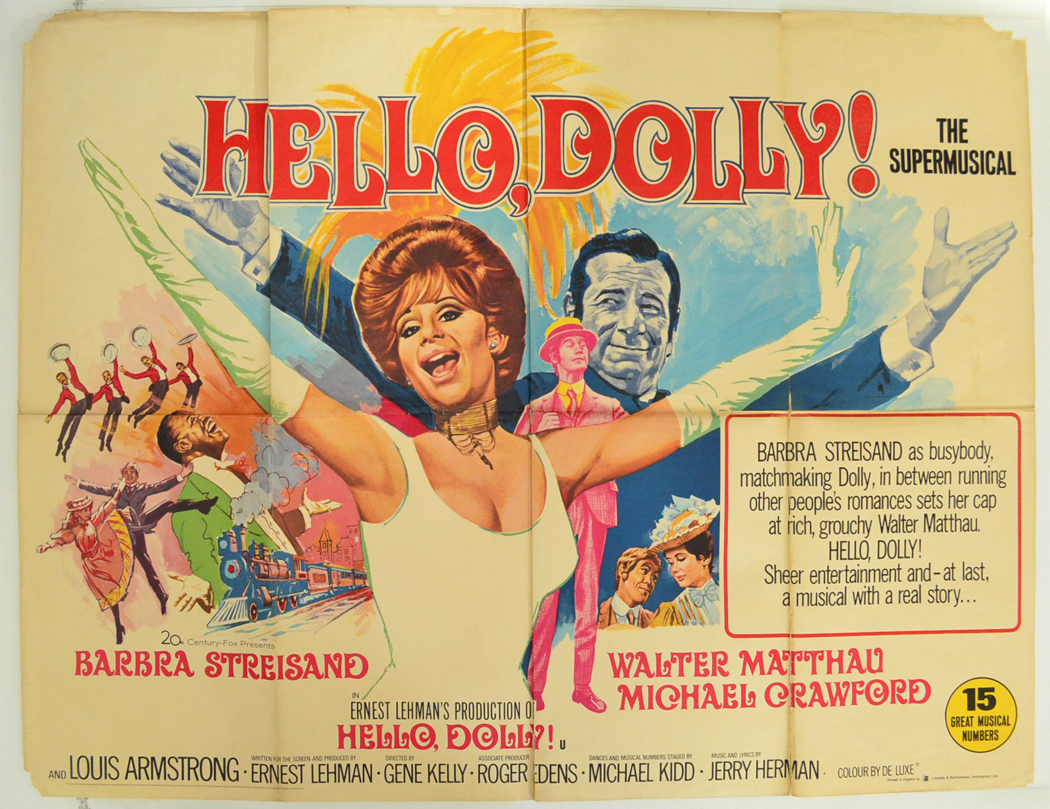 hello dolly original cinema movie poster from