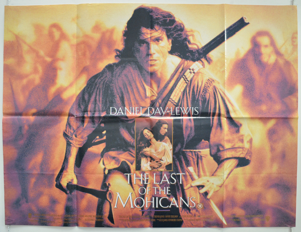 last of the mohicans original cinema movie poster from