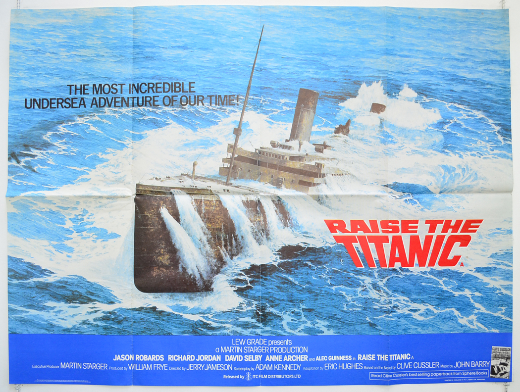 raise the titanic original cinema movie poster from