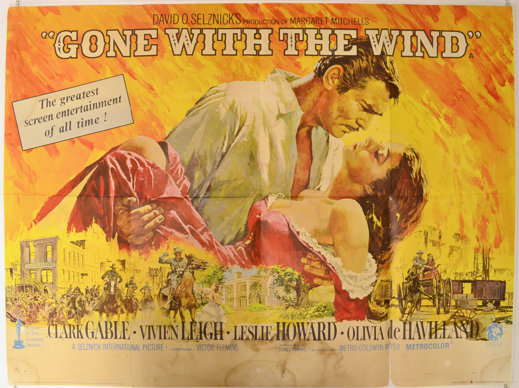 Gone With The Wind (1968 re-release) - Original Cinema ...