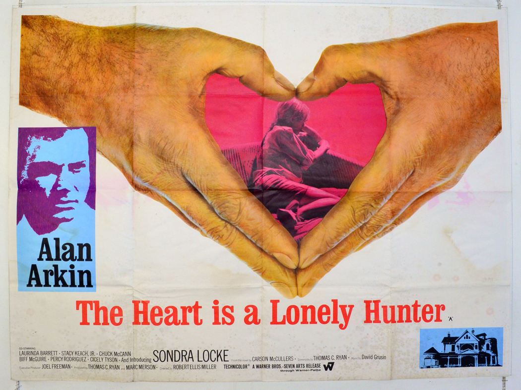 the heart is a lonely hunter Drama director: robert ellis miller when deaf mute singer moves to a small city to be near his only friend confined in a hospital, he grows attached to his landlady's sensitive 16-year-old daughter running time: 2:03:00.
