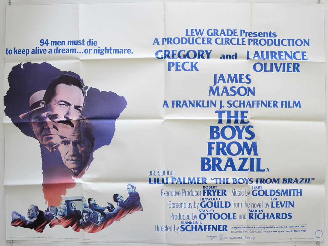 Analysis of the film the boys from brazil directed by franklin j schaffner