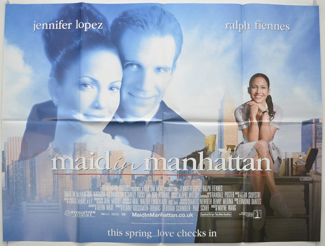 maid in manhattan original cinema movie poster from