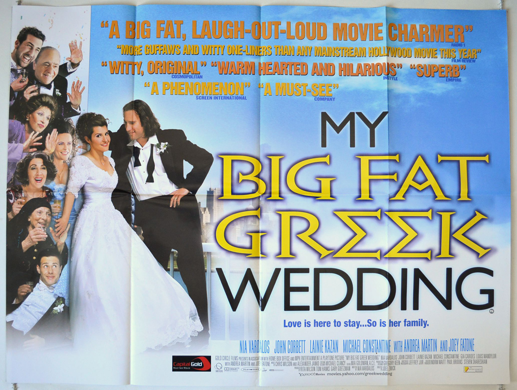 My Big Fat Greek Wedding Movie Poster - Girls Wild Party