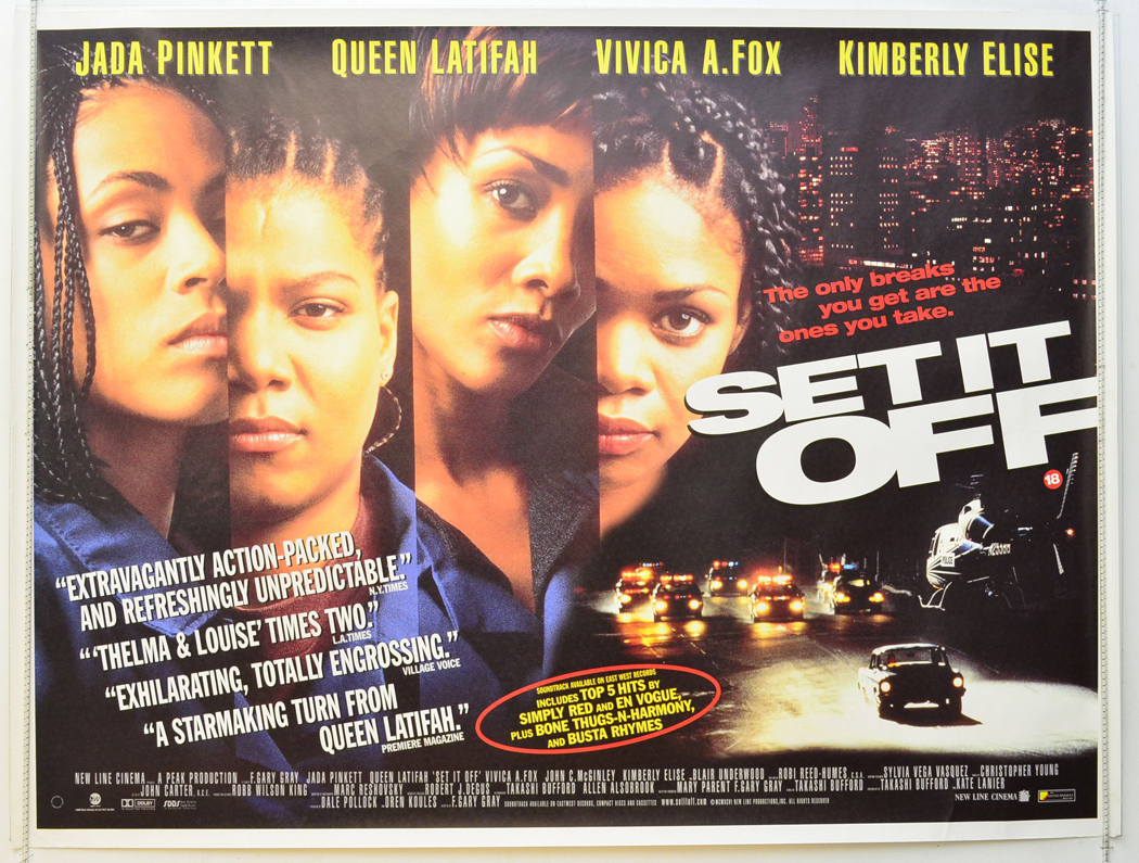 SET IT OFF (1996) Quad Movie Poster - Jada Pinkett, Queen ...