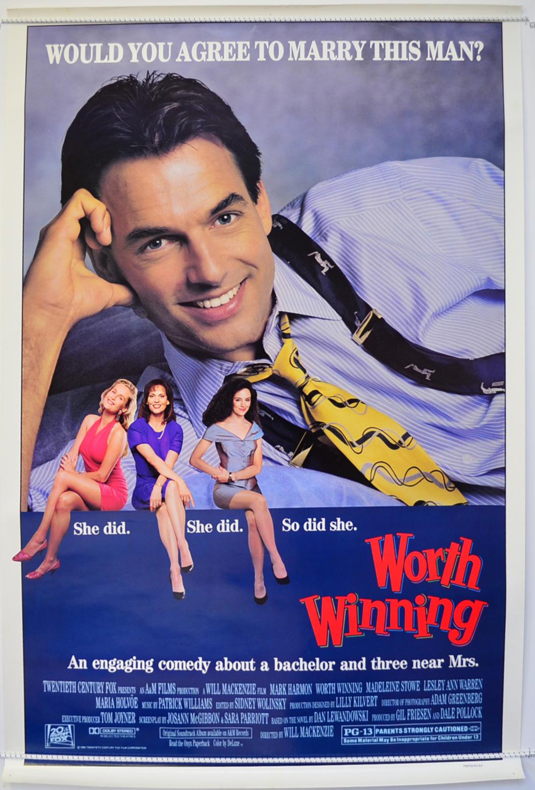worth winning original cinema movie poster from