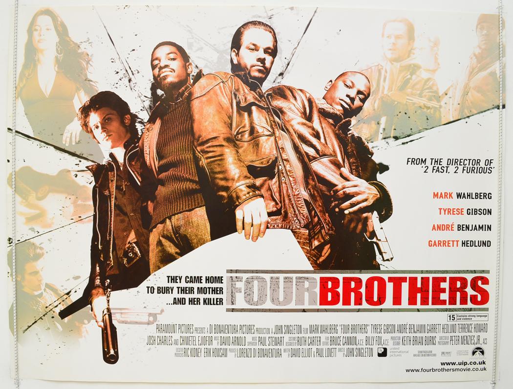FOUR BROTHERS (2005) Original Quad Movie Poster - Mark ...