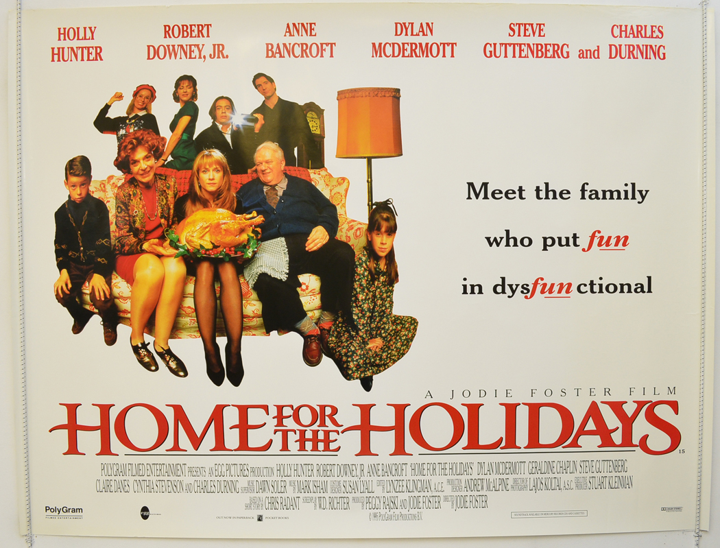 HOME FOR THE HOLIDAYS (1995) Quad Movie Poster - Holly ...