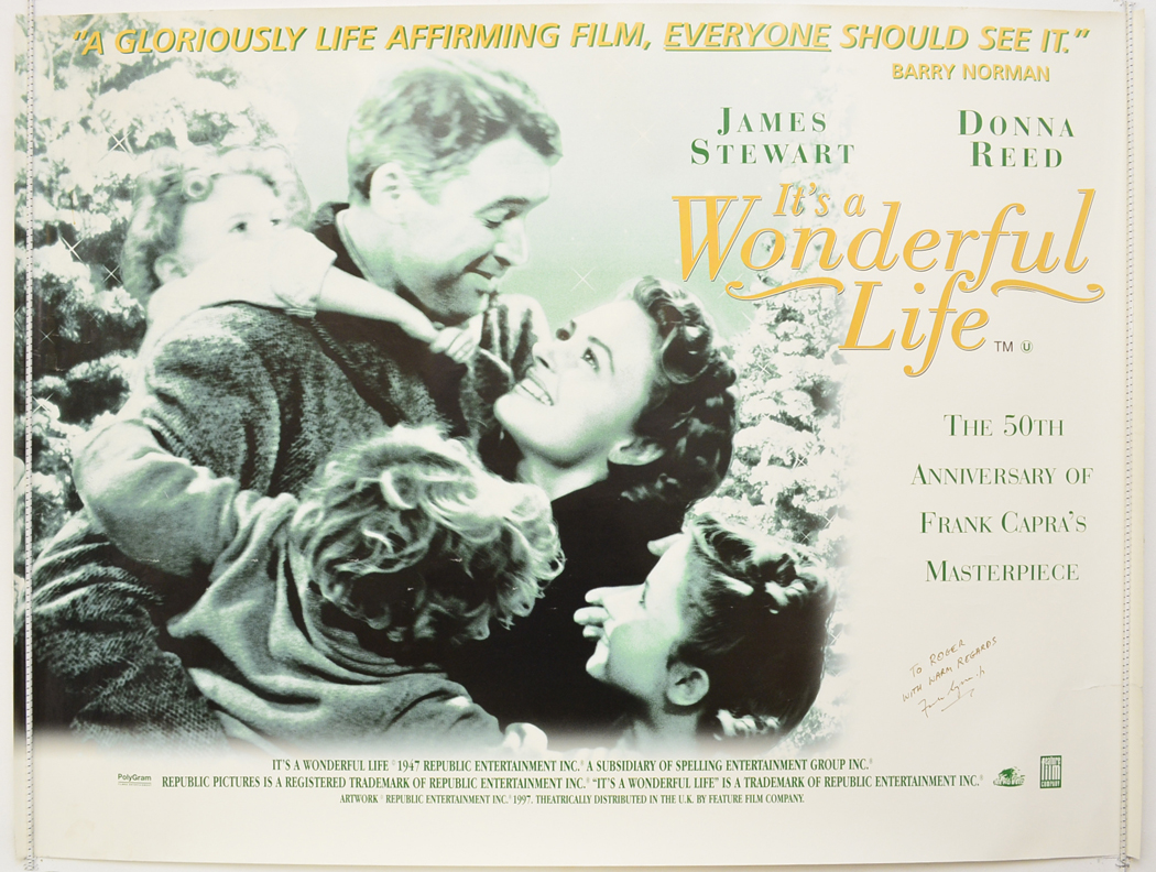 It 39 S A Wonderful Life 1997 Re Release Poster Original Cinema Movie Poster From Pastposters