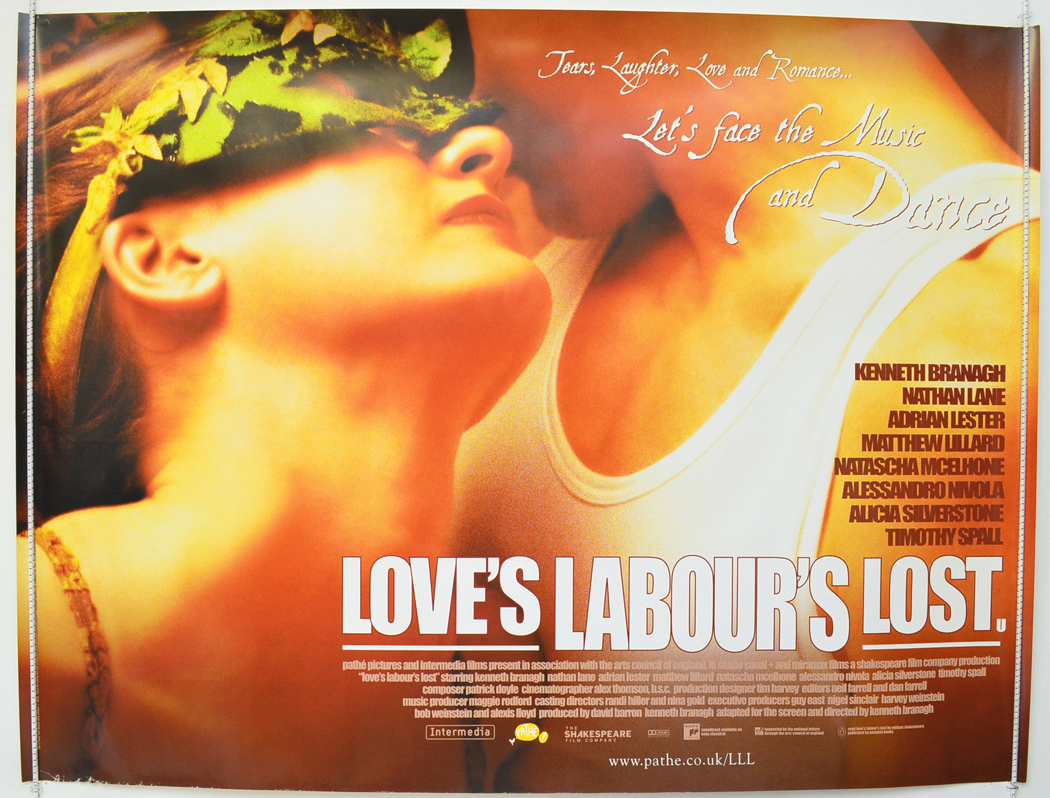 Movie Posters 2000: LOVE'S LABOUR'S LOST (2000) Cinema Quad Poster