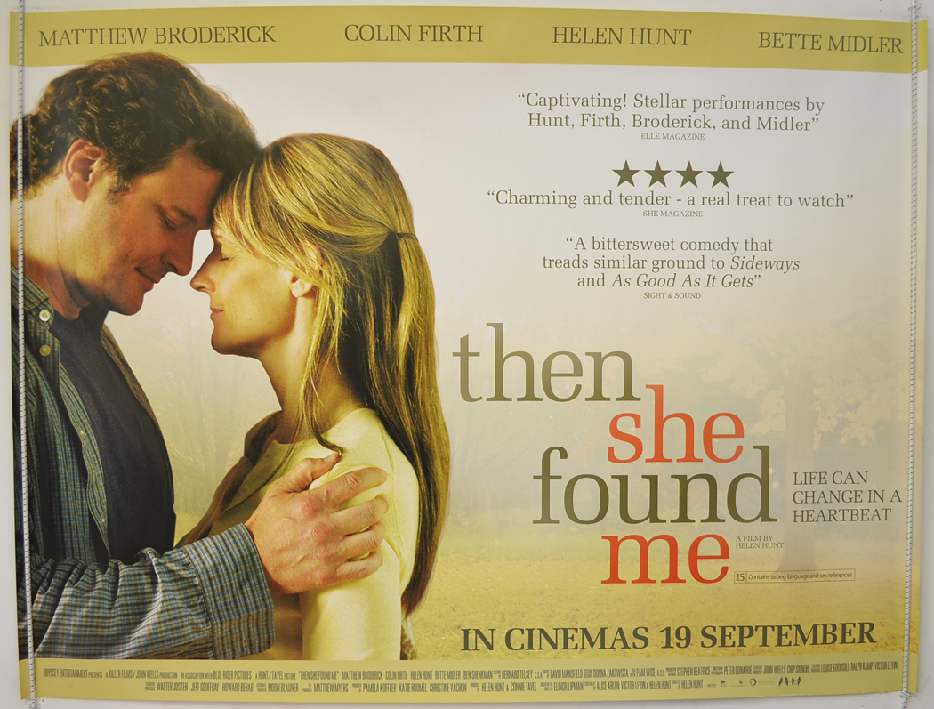 Then She Found Me - Original Cinema Movie Poster From ...