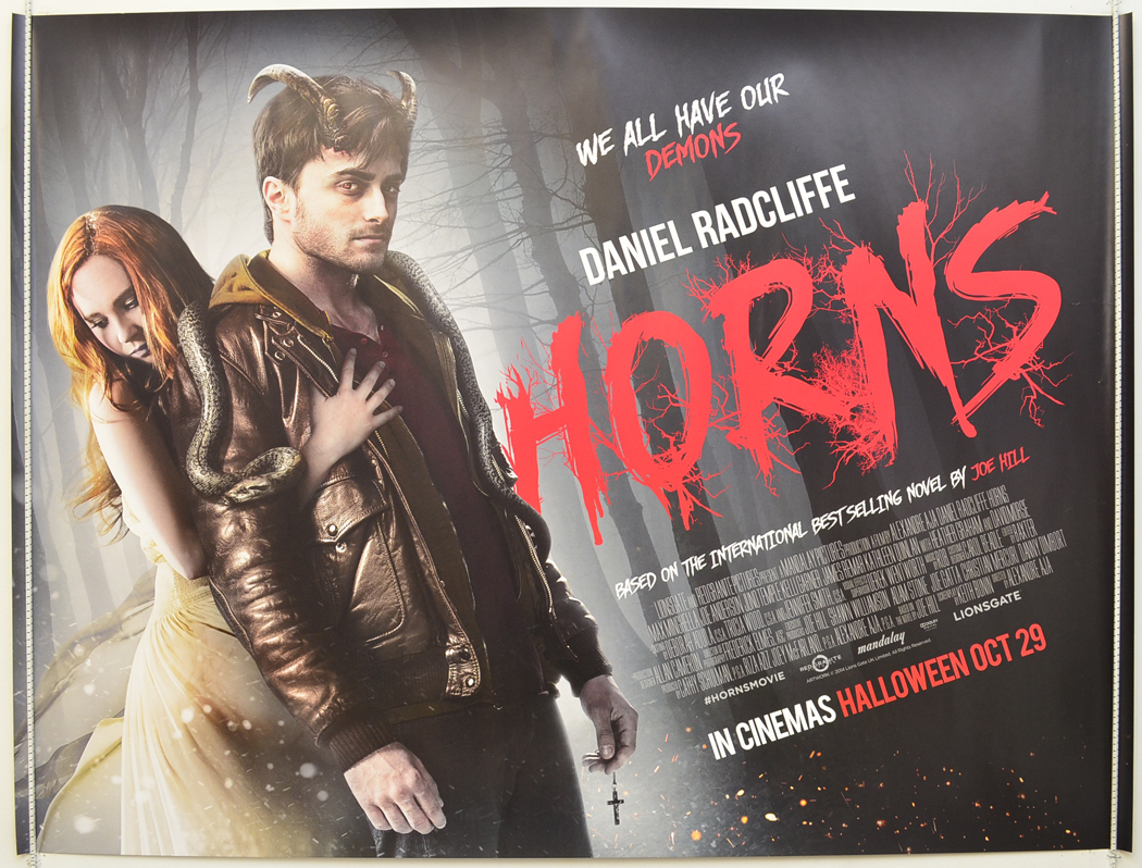 HORNS (2014) Original Cinema Quad Movie Poster - Daniel ... Horns Movie Poster
