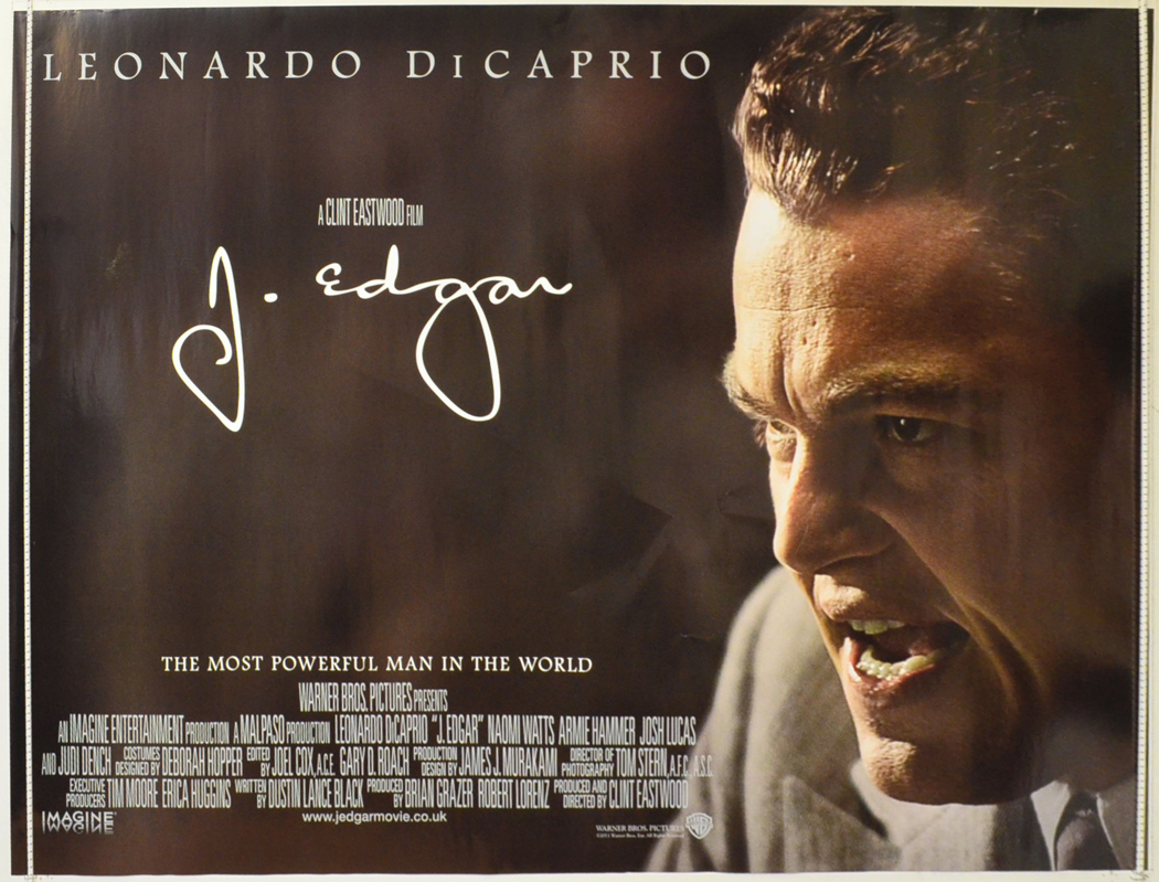 J. Edgar - Original Cinema Movie Poster From pastposters ...