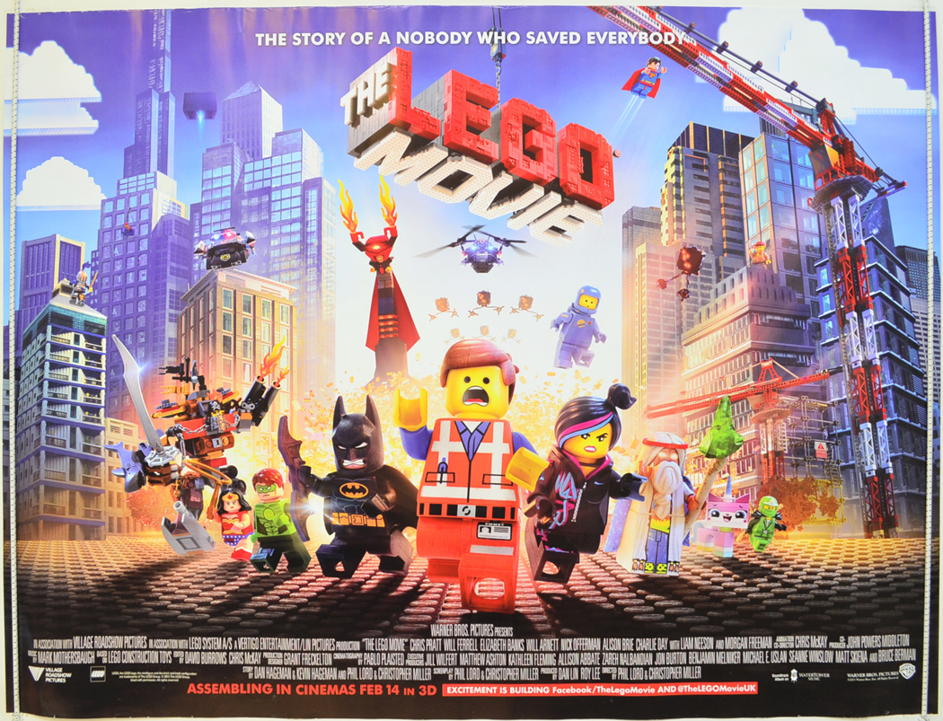 lego movie the original cinema movie poster from. Black Bedroom Furniture Sets. Home Design Ideas