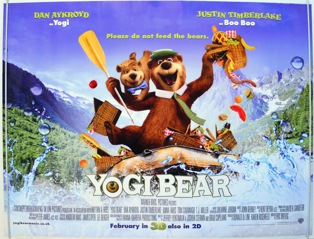 Yogi Bear Movie Poster Controversy Yogi Bear - Original C...