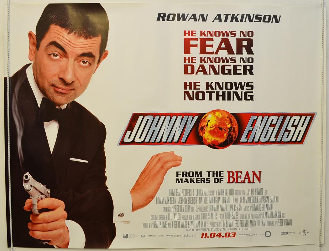 johnny english original cinema movie poster from