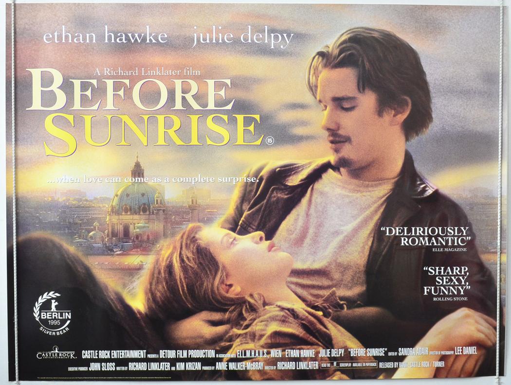 1995 Movie Posters: BEFORE SUNRISE (1995) Original Quad Film Poster