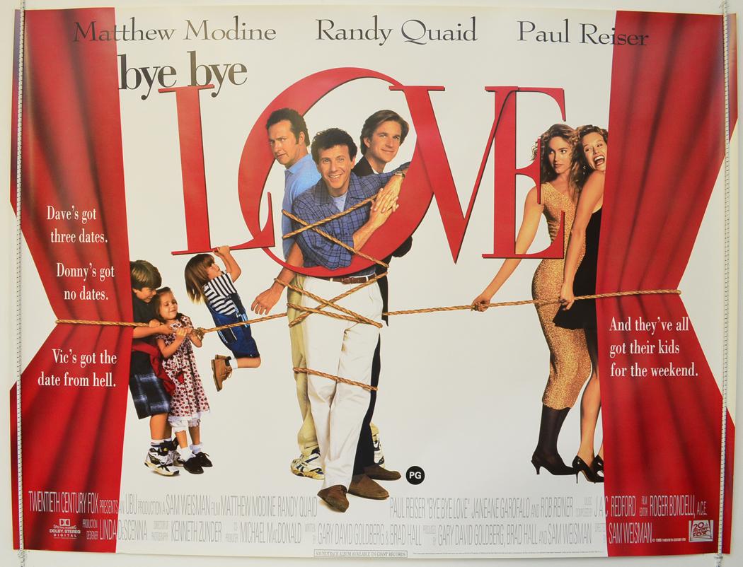 bye bye love original cinema movie poster from