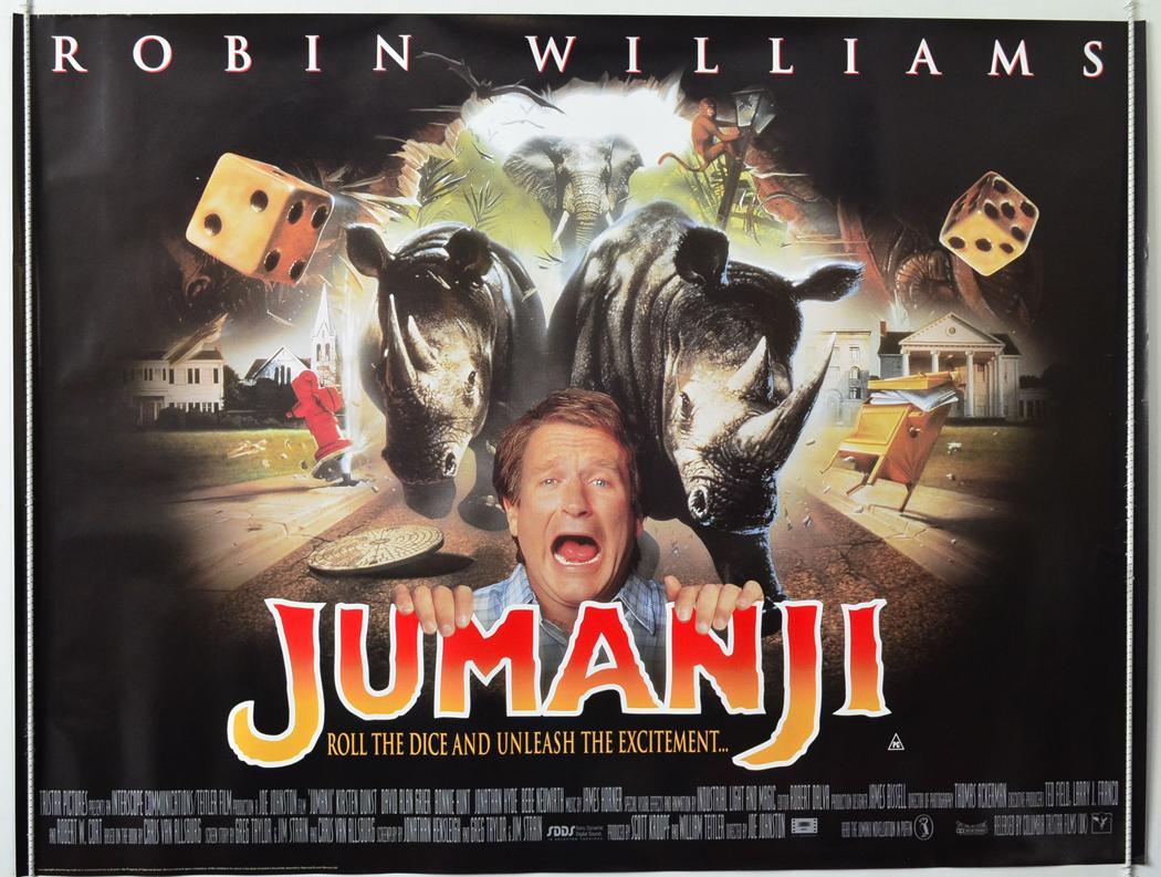 1995 Movie Posters: JUMANJI (1995) Original Cinema Quad Film Poster