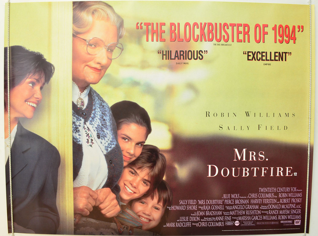 Mrs Doubtfire - Original Cinema Movie Poster From ...