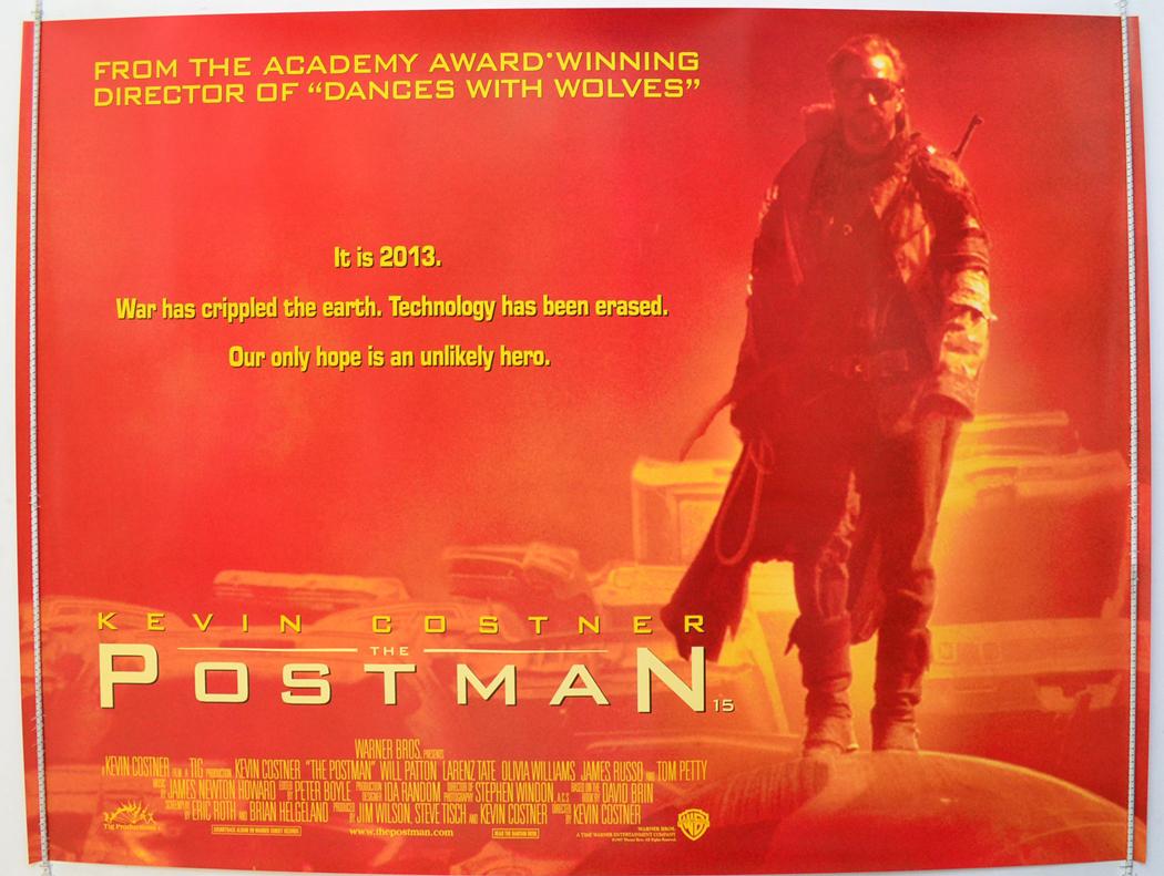 ... postman (1998) original quad movie poster - kevin costner, will patton Kevin Costner