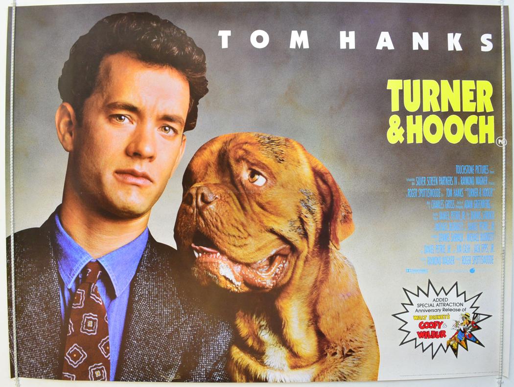 Details about TURNER AND HOOCH (1989) Original Quad Movie Poster Tom ...