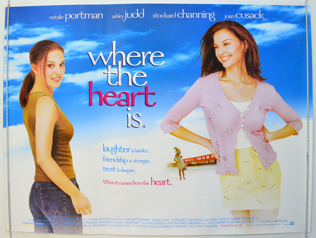 Where The Heart Is 2000 Quad Movie Poster Natalie
