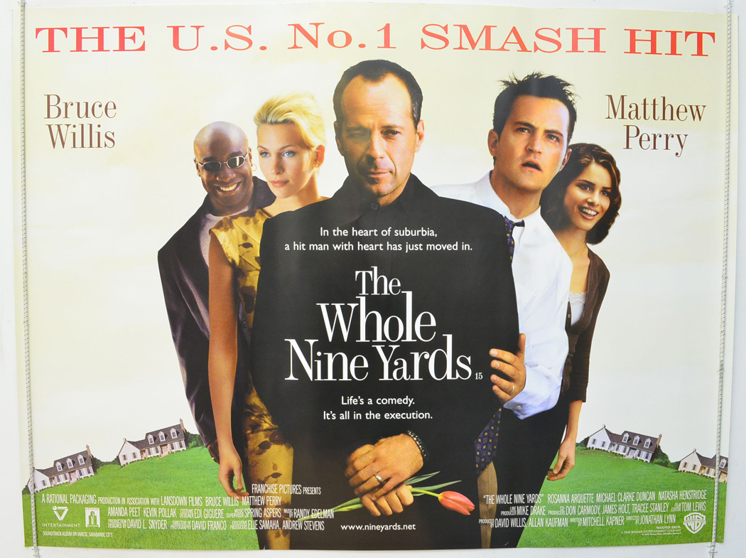 The whole nine yards 2000 quad movie poster bruce willis mathew perry