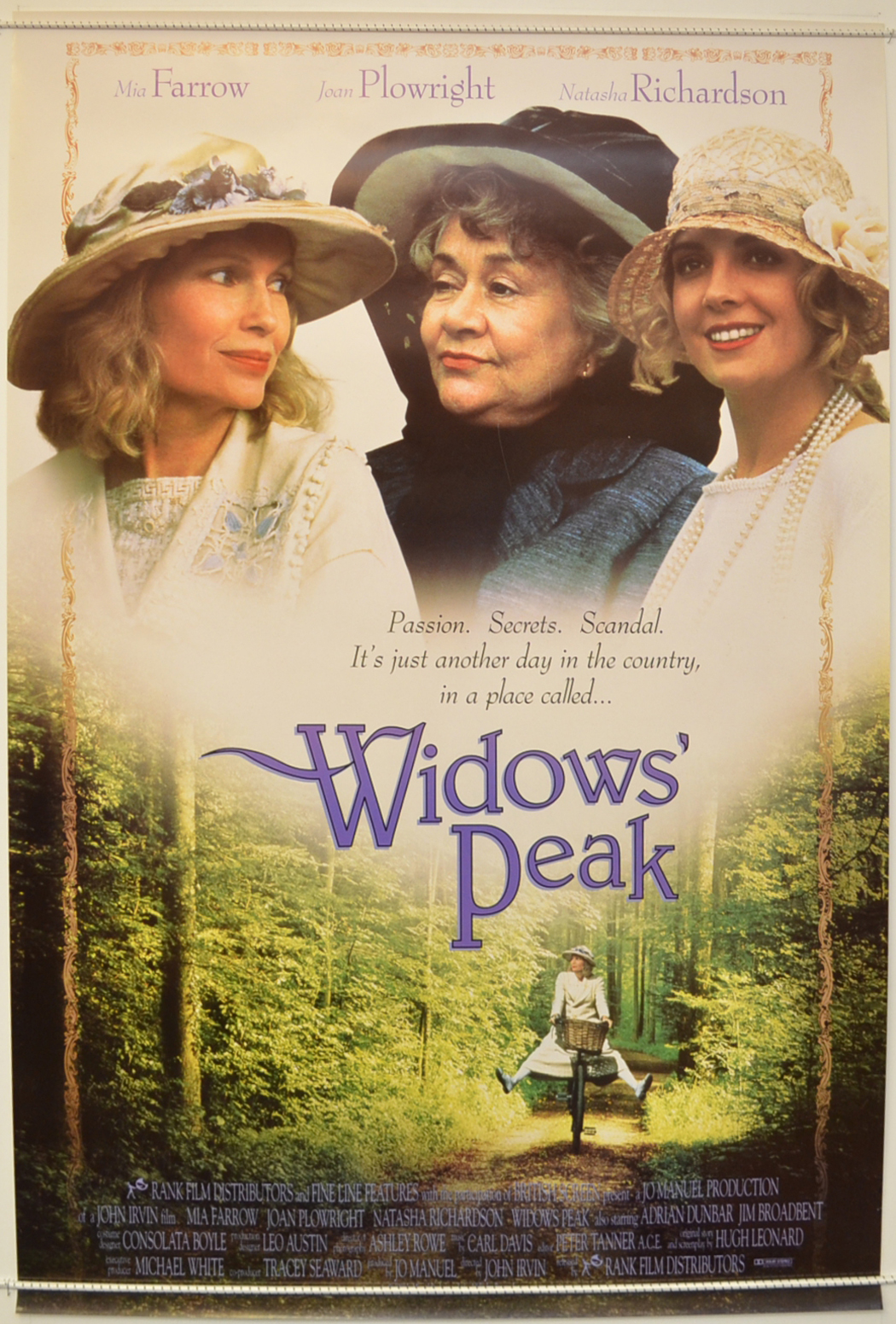 Widows Peak Original Cinema Movie Poster From