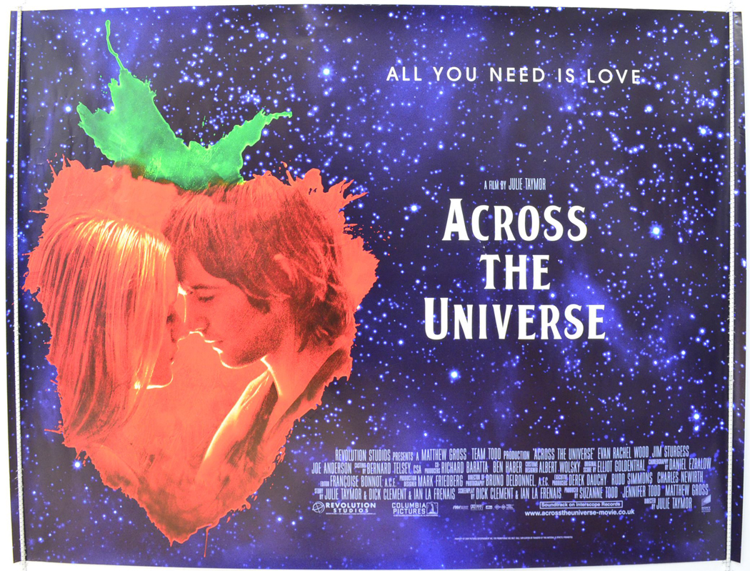 across the universe original cinema movie poster from