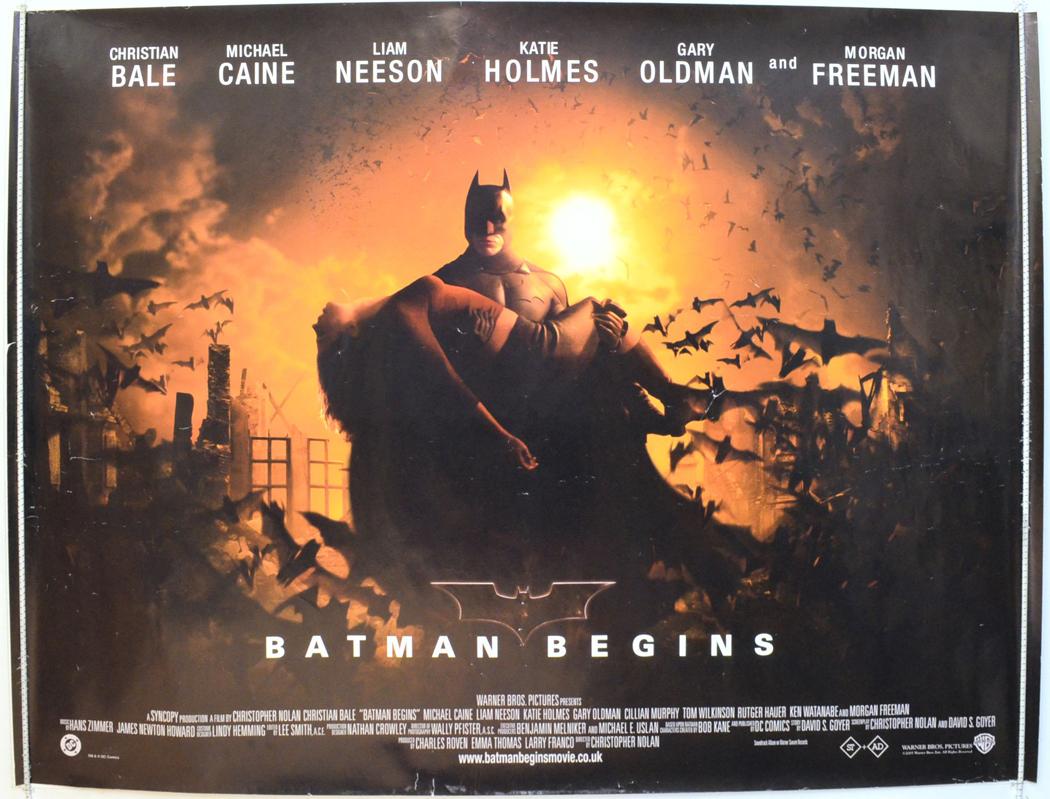 batman begins original cinema movie poster from
