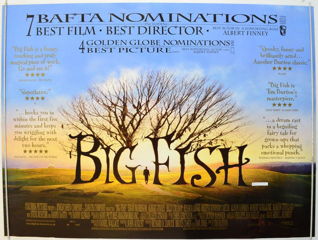 big fish quotes version original cinema movie poster