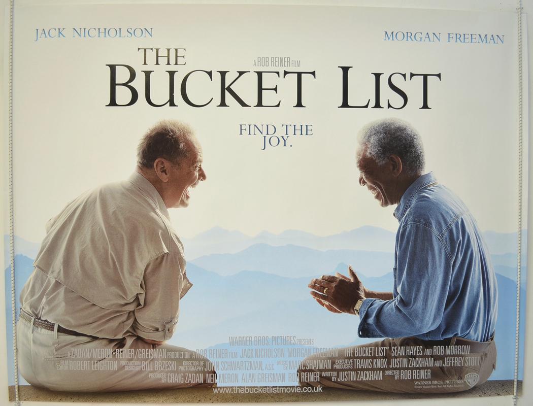 Bucket List The Original Cinema Movie Poster From