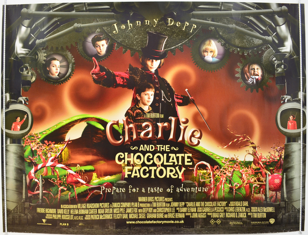 Charlie And The Chocolate Factory - Original Cinema Movie Poster ...