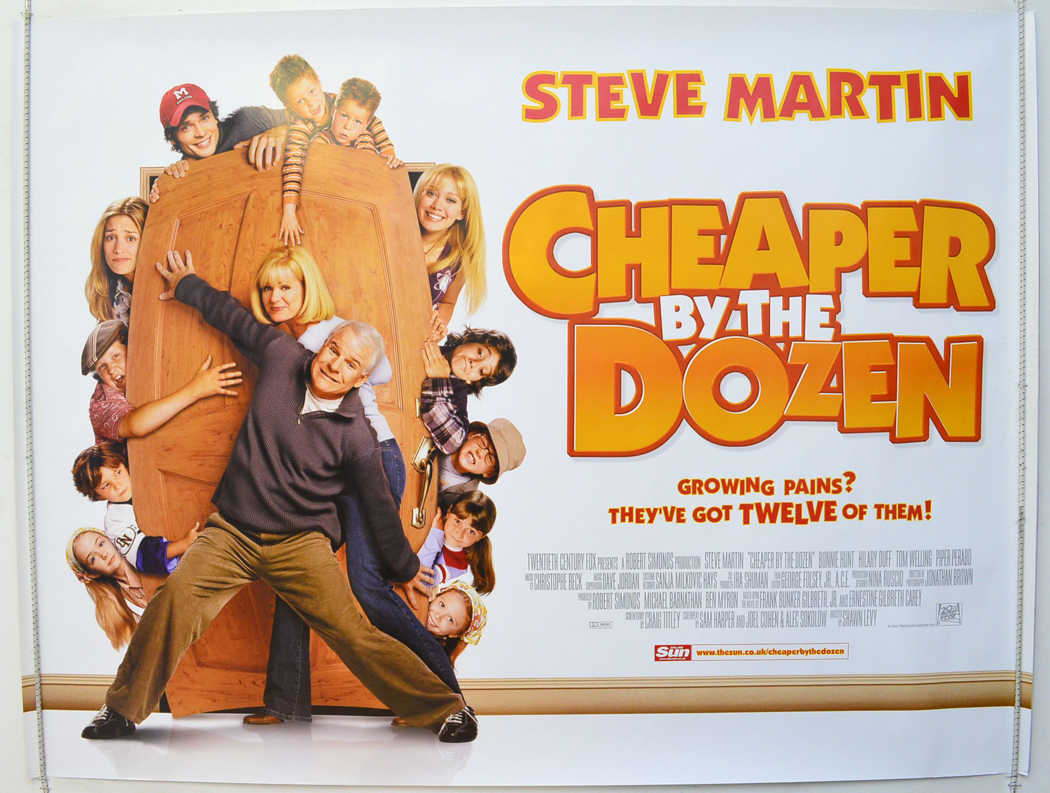 cheaper by the dozen original cinema movie poster from