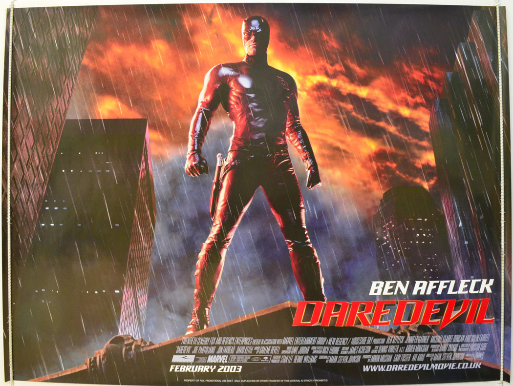 Movie Posters 2003: DAREDEVIL (2003) Original Quad Movie Poster