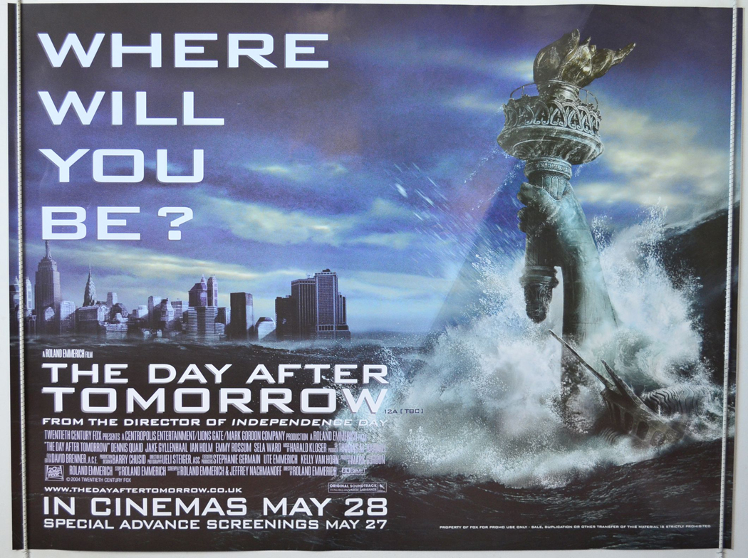 day after tomorrow essay questions The day after tomorrow movie questions a) excluding time factor discuss weather presented are likely/possible-why/whynot b) why if this is global warming is the scenario presented one of extreme.