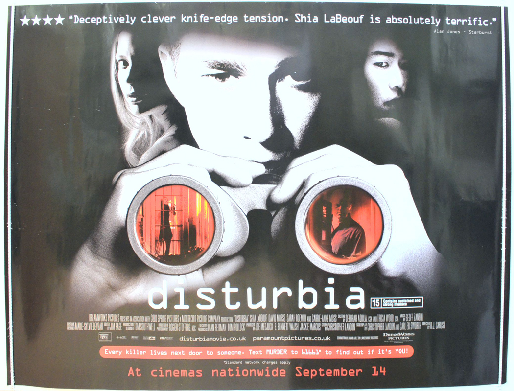 Disturbia - Original Cinema Movie Poster From pastposters ...