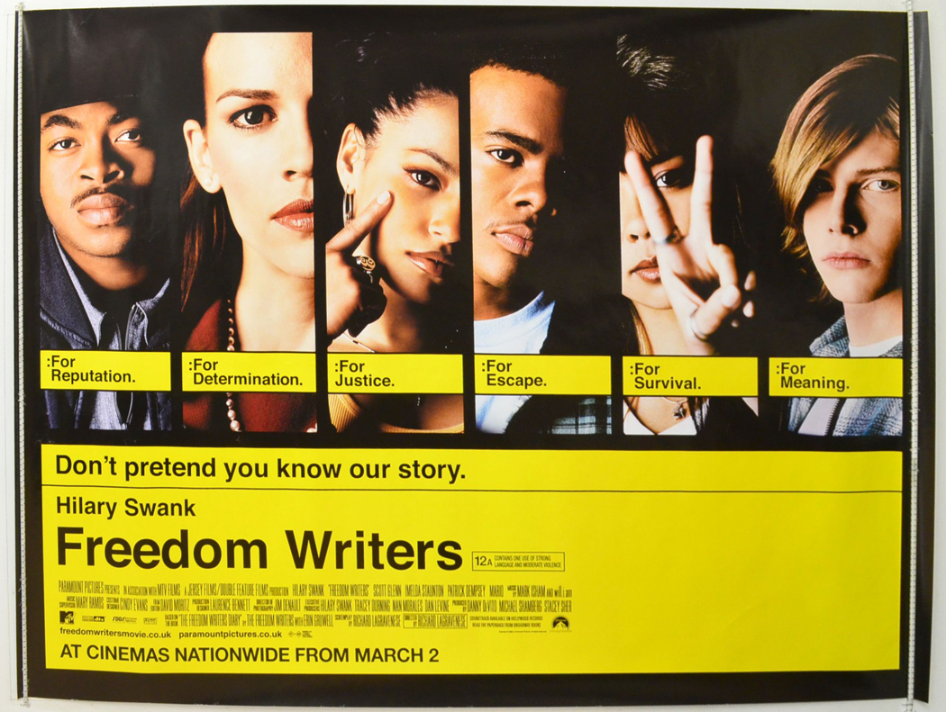 tolerance in the freedom writers movie Released in 2007, 'freedom writers' is a story of hope, inspiration, tolerance and courage based on the book, 'the freedom writers diary' by erin gruwell, it has been directed by richard lagravenese, more known as an acclaimed, academy award nominated screenwriter.