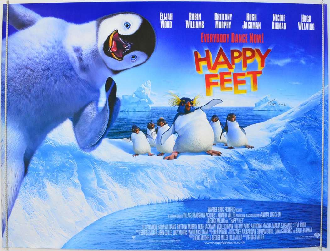 happy feet original cinema movie poster from pastposters