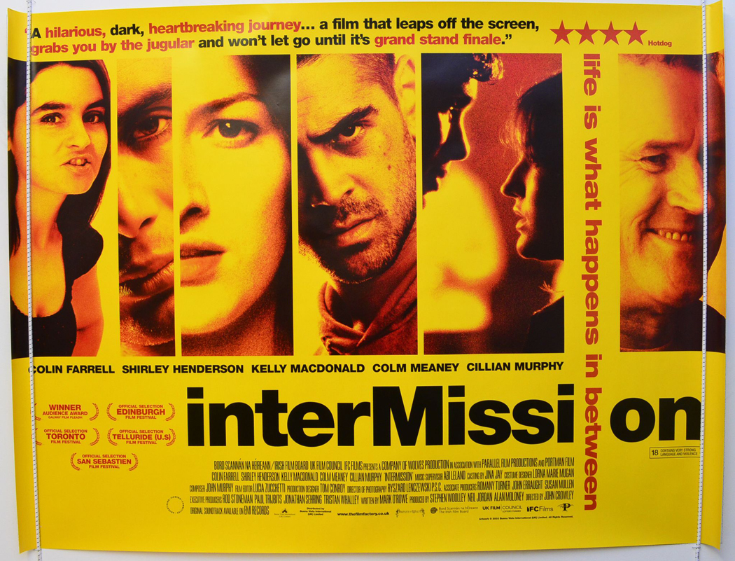 Movie Posters 2003: INTERMISSION (2003) Original Quad Movie Poster