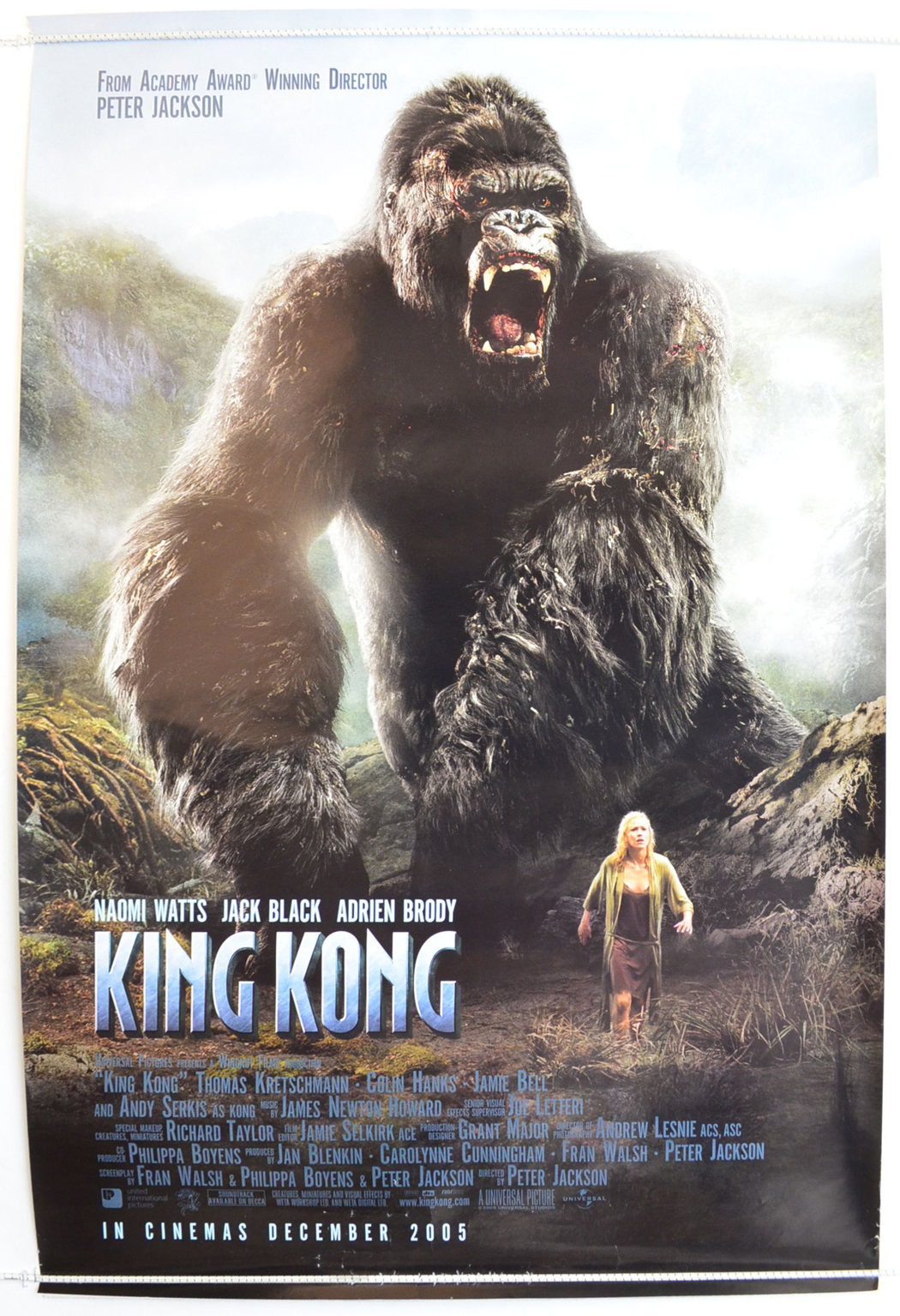 King Kong Original Cinema Movie Poster From Pastposters